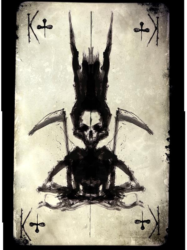 Titel: King Dead, Tusche, digitale Nachbearbeitung