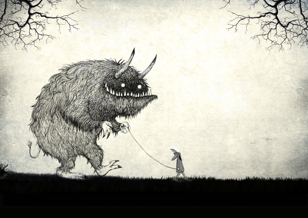 Titel: Monster Spaziergang - Druck 21 cm x 29,7 cm Zum Shop