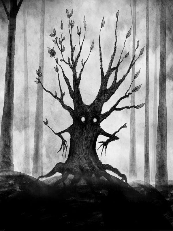 Titel: The Tree, Fineliner, Tusche, digitale Nachbearbeitung