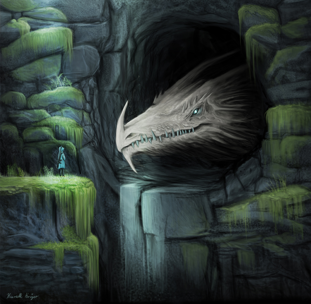 Die Höhle  - digital Artwork