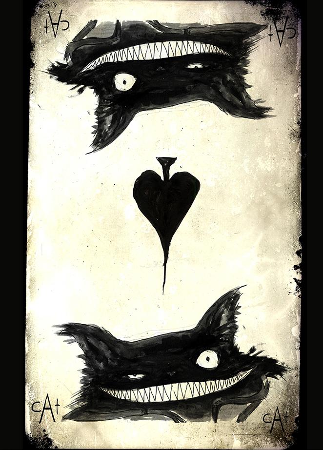Titel: Spielkarte Cat As Piek Druck 13 cm x 18cm Zum Shop