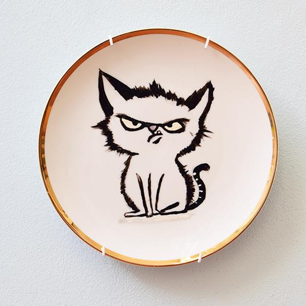 Wandteller - Grumpy Cat - Verkauft