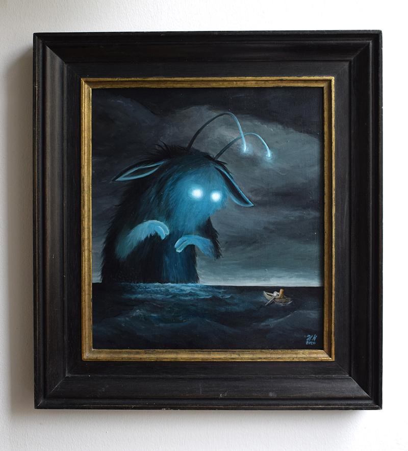 Titel: Meer und Licht - Acryl auf Holz (gerahmt) - Verkauft